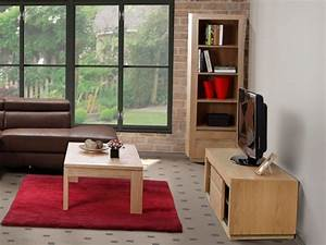 Pack Meuble TV Table Basse SYMPHONIE Chne Huil