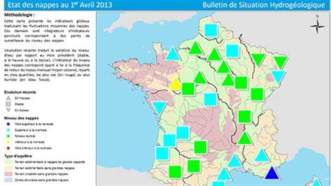 etat des nappes d eau souterraine au 1er avril 2013