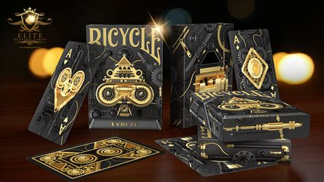 Each suit further contains 13 cards: Bicycle Evolve Playing Cards by Elite Playing Cards