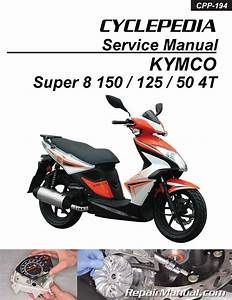 Kymco Super 8 150 125 50 4t Cyclepedia Scooter Service