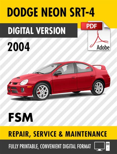 book repair manual 1998 plymouth neon navigation system 2004 dodge neon srt 4 factory service repair manual s manuals