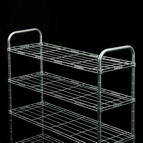 steel silver closet organizer shoe rack stackable tower