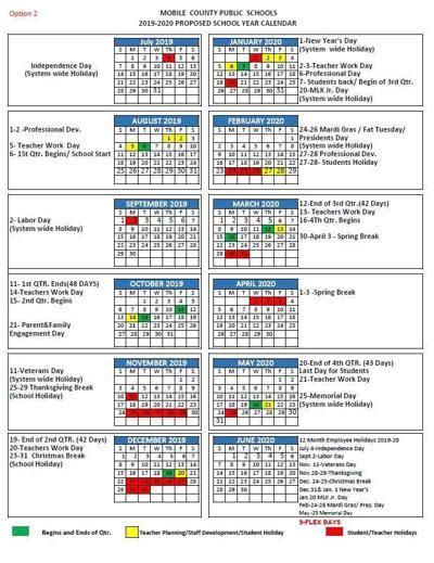 mobile county school system posts calendar news foxtvcom