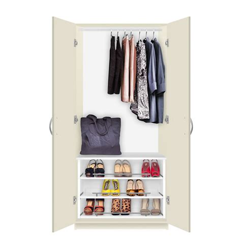 alta free standing wardrobe closet 3 extending shoe