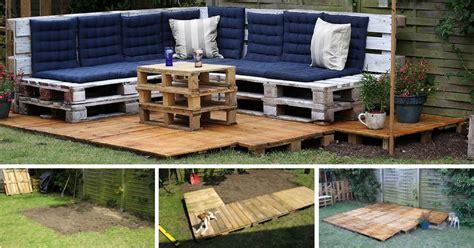 meubles de patio comment bien 3 é pour la construction d 39 une terrasse en palette photos