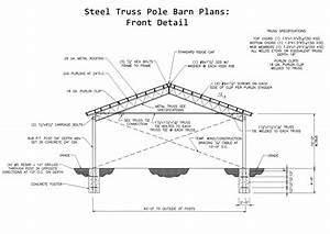 pole barn plans with material list steel truss 40x60 30x40 With 30x40 pole barn material list