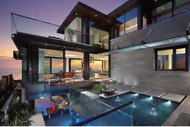 Beautiful Home Design With Modern Vintage Interior Ocean View Modern Beautiful Home With Reflecting Ponds Most Beautiful Houses In