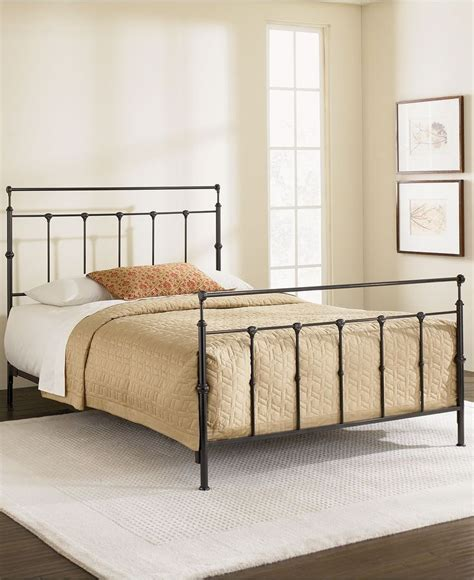kingston mahogany gold california king metal bed