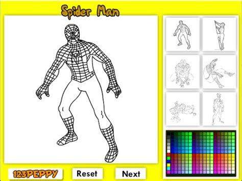 spiderman coloring pages  kids spiderman coloring