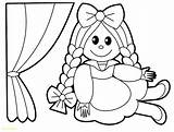 Coloring Doll Rag Pages Printable Toy Getcolorings Inspiration sketch template