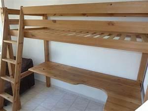 Lit 1 Place But : lit mezzanine bureau pin massif occasion clasf ~ Teatrodelosmanantiales.com Idées de Décoration