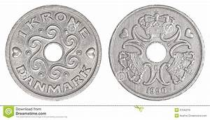 1 Danish Kroner Coin Royalty Free Stock Images - Image ...