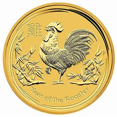 Gold Rooster Coin Lunar Ii Australian 20oz