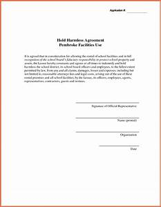 elegant pictures of hold harmless agreement business With hold harmless waiver template