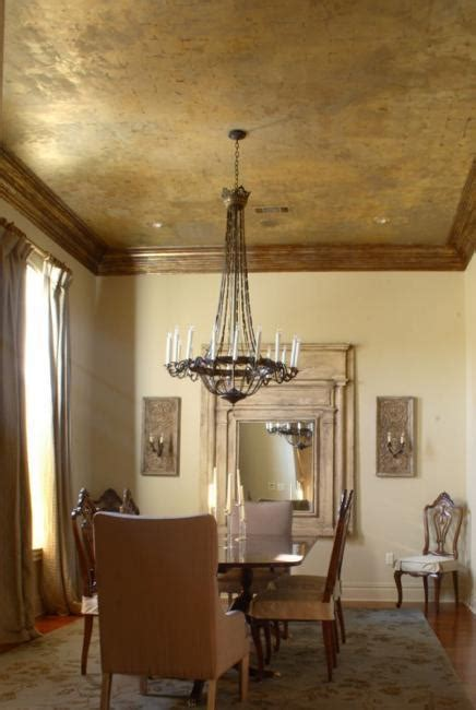 modern wall  ceiling designs adding bronze color