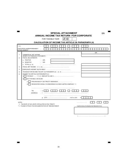 for the completion of income tax return for