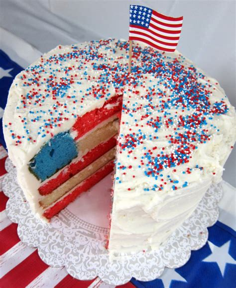 4th of july cake flag cake recipe dishmaps