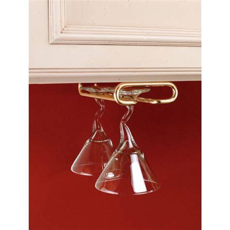 cabinet stemware rack brushed nickel rev a shelf 1 5 in h x 4 25 in w x 16 in d brass