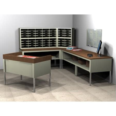 mail room furniture compact  shaped mail center