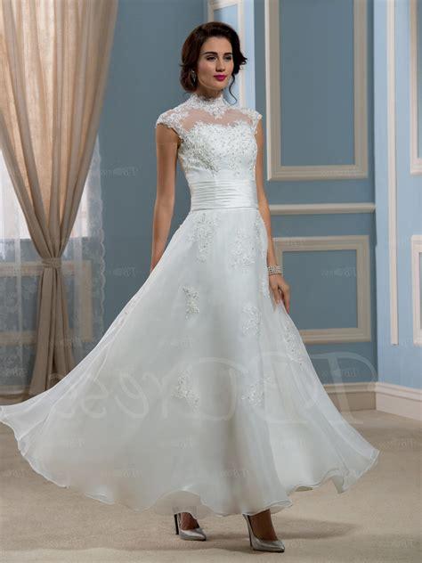 ankle wedding dress ankle length lace wedding dresses naf dresses