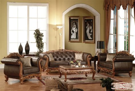 Provincial Sofa Set by Provincial Sofa Set In Brown Finish Contemporary