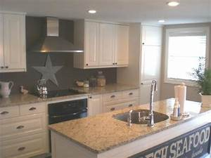 sand tan taupe gray walls design ideas With kitchen colors with white cabinets with phases of the moon wall art