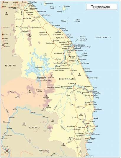 Terengganu Map Maps Kuala Malaysia Detailed Enlarge