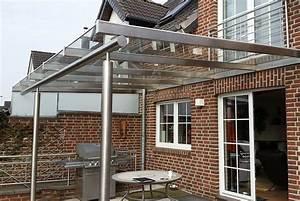 Grosses vordach fur terrasse nappenfeld edelstahl for Vordach terrasse