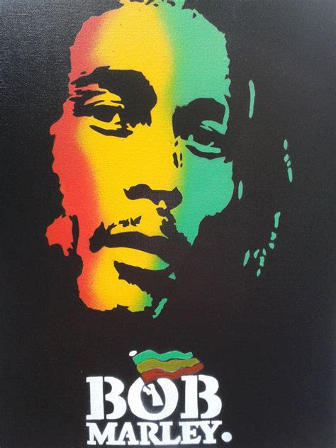 bob marley painting  canvasstencils  abstract