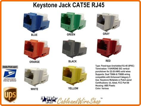 keystone cat5e insert rj45 module u white 301 j2517 wh