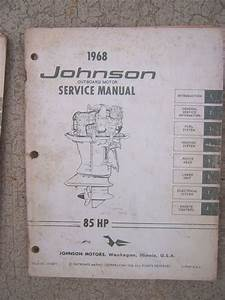 1968 Johnson Outboard Motor 85 Hp Horsepower Service