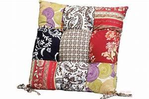 Coussin Pas Cher : coussin de chaise patchwork fleuri 40x40 cm coussins pas cher ~ Teatrodelosmanantiales.com Idées de Décoration