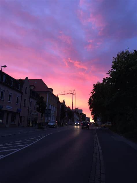 sunset grunge purple pink street cars morning pretty orange favim iphone indie heart early yellow