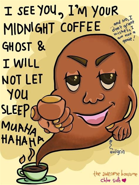 It made him too jumpy. Coffee Ghost - Digital Art by Premalatha Sunderam in Humour Me at touchtalent 59972   Coffee ...