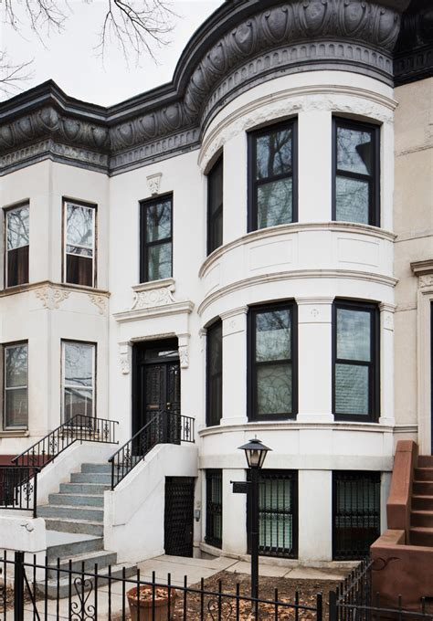 brownstone decorating ideas with urban exterior