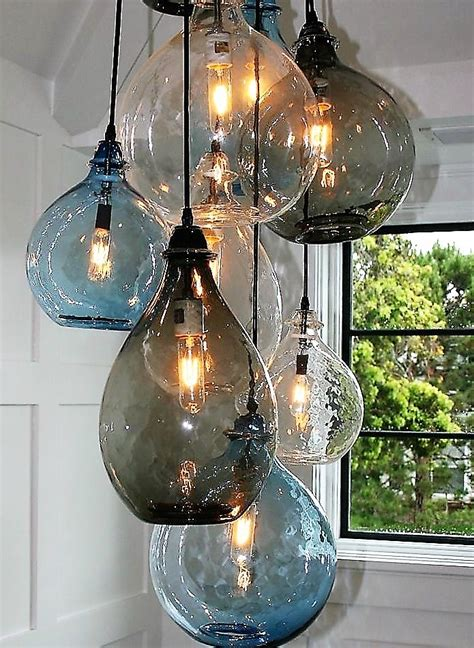 chandelier made from recycled glass bottles can bring