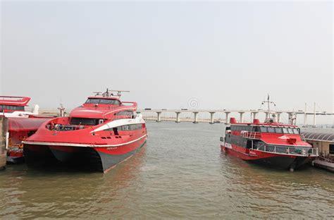 Fast Boat Hong Kong To Macau by Turbo Jet Fast Boats Hong Kong Macau Editorial Image