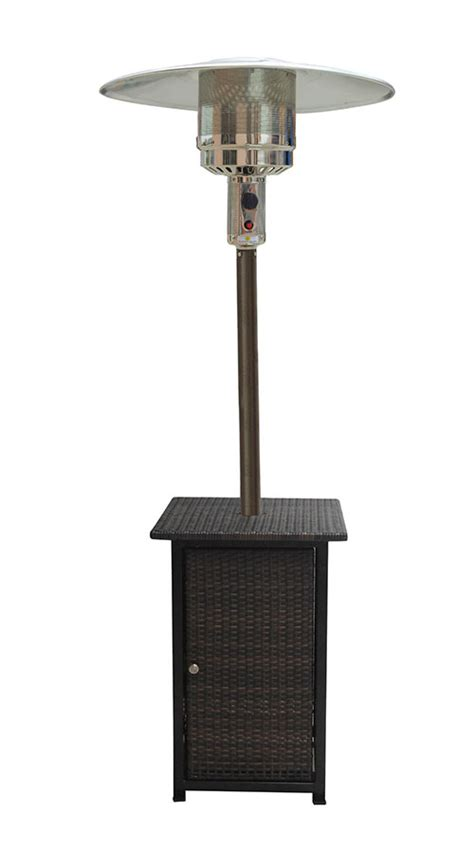 hiland square wicker patio heater with table