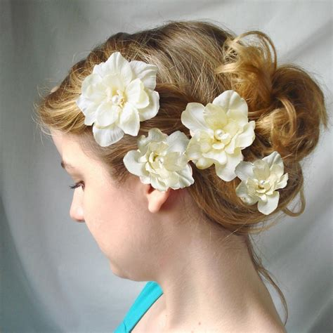 wilmides blog ivory flower hair clips cupids kisses