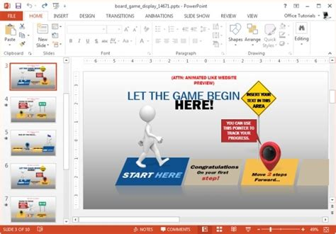 animated board game powerpoint template
