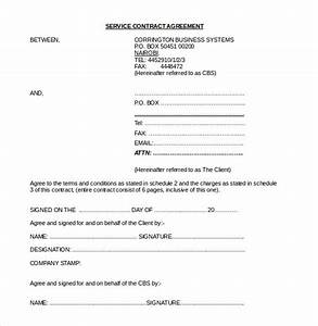 contract agreement template 19 free word pdf document With free online document signing service