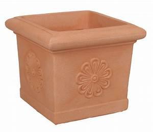 Pot De Fleur Carré : pot carr imitation terre cuite avec frise poterie pots ~ Dailycaller-alerts.com Idées de Décoration