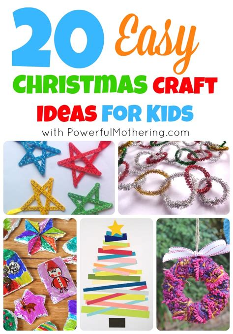 easy christmas craft ideas  kids