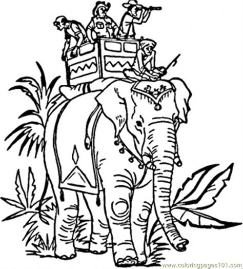 indian elephant coloring page  india coloring pages