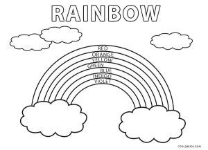 printable rainbow coloring pages  kids coolbkids