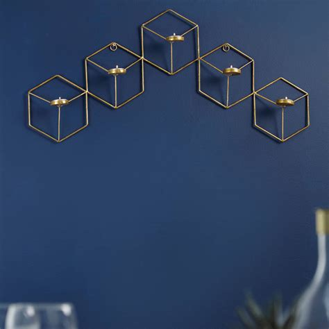 hexagon wall t light holder by lime lace