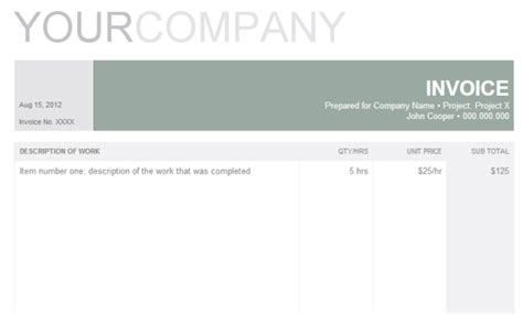 invoice template docs how docs can help you come across as a professional