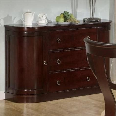 cherry wood buffet table coaster cresta 101185 brown wood buffet table in los