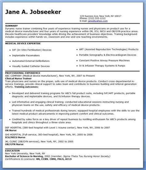 resume for educator position creative resume