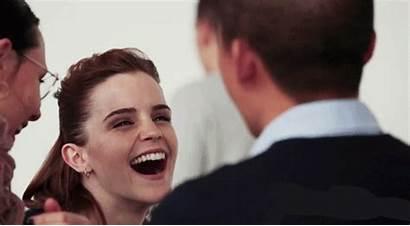 Watson Emma Gifs Gorgeous Celebrity Famous Laugh